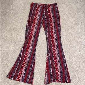 Pattern Flared Pants